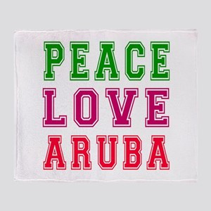 Peace Love Aruba Throw Blanket