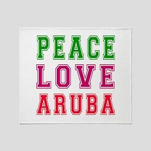 Peace Love Aruba Throw Blanket