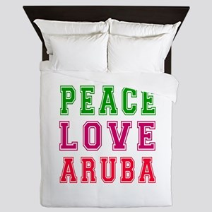 Peace Love Aruba Queen Duvet