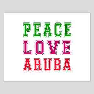Peace Love Aruba Small Poster