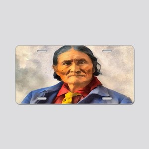 Apache Chief Geronimo Aluminum License Plate
