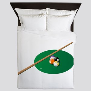 Pool - Pool Table Queen Duvet