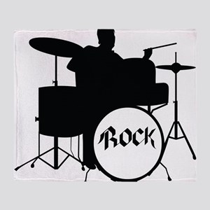 Rock Drummer - Musician Throw Blanket
