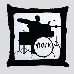 Rock Drummer - Musician Throw Pillow