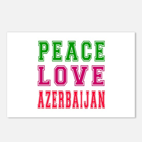 Peace Love Azerbaijan Postcards (Package of 8)
