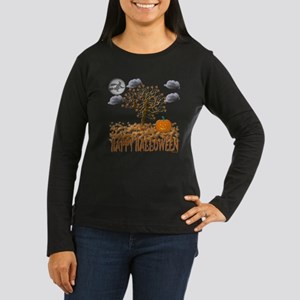 Happy Halloween Women's Long Sleeve Dark T-Shirt