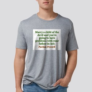Marry The Child Of The Devil Mens Tri-blend T-Shir