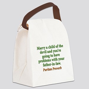 Marry The Child Of The Devil Canvas Lunch Bag