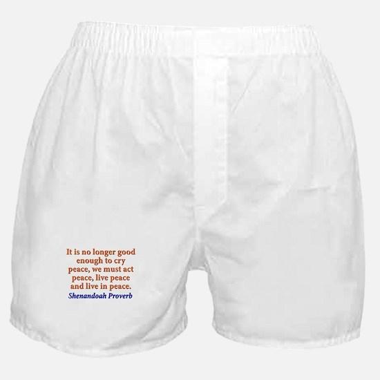 It Is No Longer Good Enough Boxer Shorts