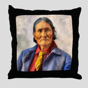 Geronimo, Apache Chief Throw Pillow