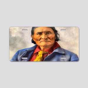 Geronimo, Apache Chief Aluminum License Plate