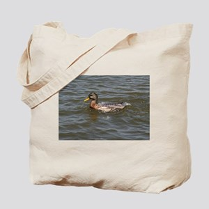 Frolicking Duck, Tote Bag
