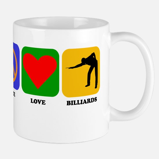 Peace Love Billiards Mugs