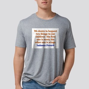 We Desire To Bequest - Sudanese Mens Tri-blend T-S