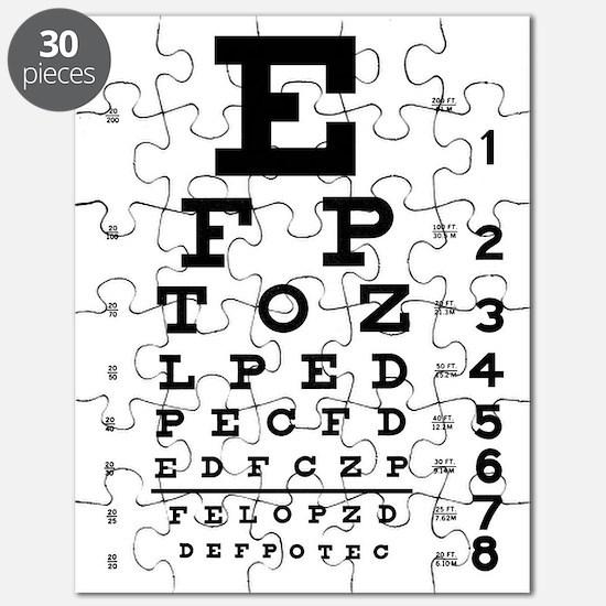 Eye Test Chart Puzzle