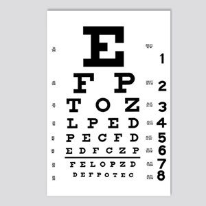 Eye Test Chart Postcards (Package of 8)
