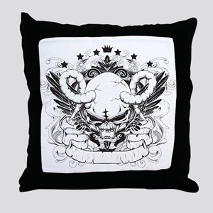 Skulls - Rock - Art Throw Pillow