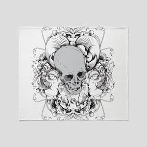 Skulls - Rock - Art Throw Blanket