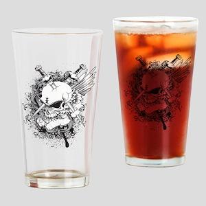 Skulls - Rock - Art Drinking Glass