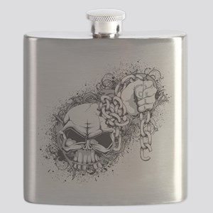 Skulls - Rock - Art Flask