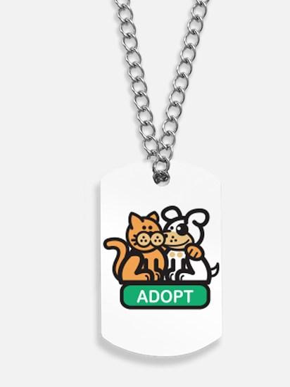 adopt animals Dog Tags
