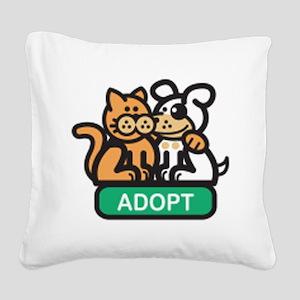 adopt animals Square Canvas Pillow