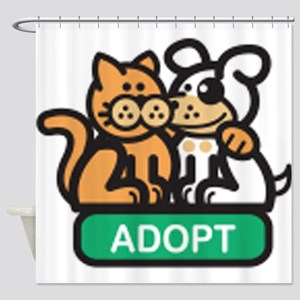 adopt animals Shower Curtain