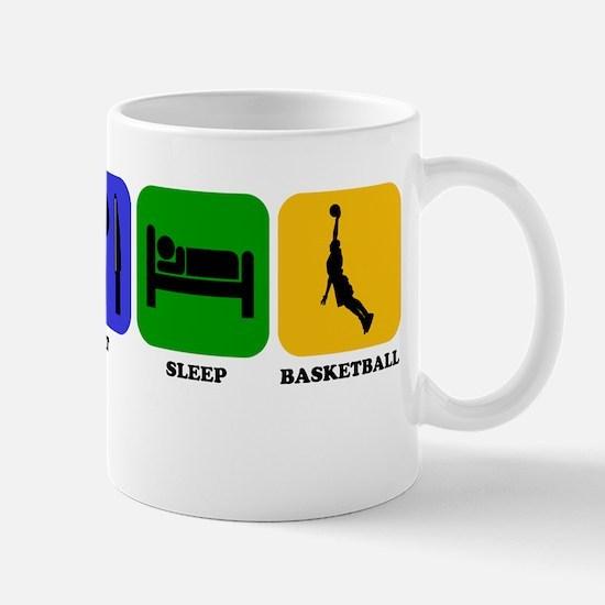 Eat Sleep Basketball Mugs