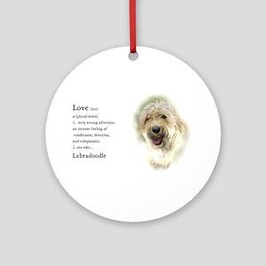 Labradoodle Love 1 Ornament (Round)