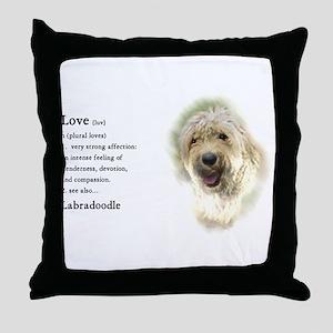 Labradoodle Love 1 Throw Pillow