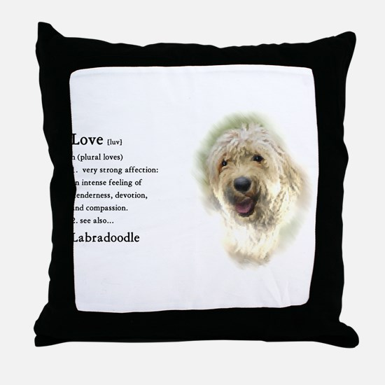 Labradoodle Love 1 Throw Pillow