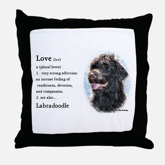 Labradoodle Gifts Throw Pillow