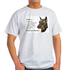 Doberman Pinscher Gifts Ash Grey T-Shirt