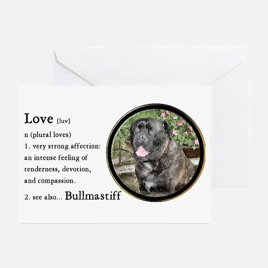 Bullmastiff Love Is Greeting Cards (Pk of 10)
