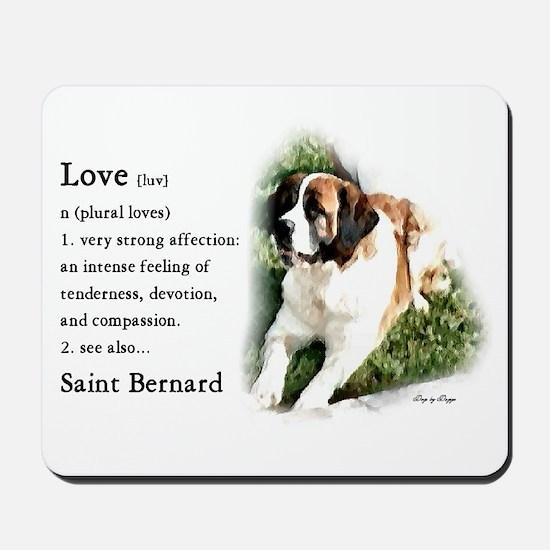 Saint Bernard Gifts Mousepad