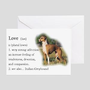 Italian Greyhound Greeting Cards (Pk of 10)