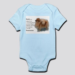 Pomeranian Love Infant Bodysuit