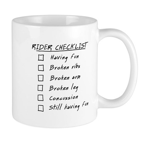 Biker Checklist: having fun. Mug