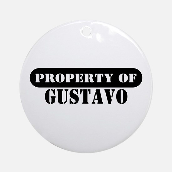 Property of Gustavo Ornament (Round)
