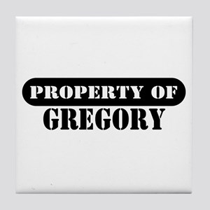 Property of Gregory Tile Coaster