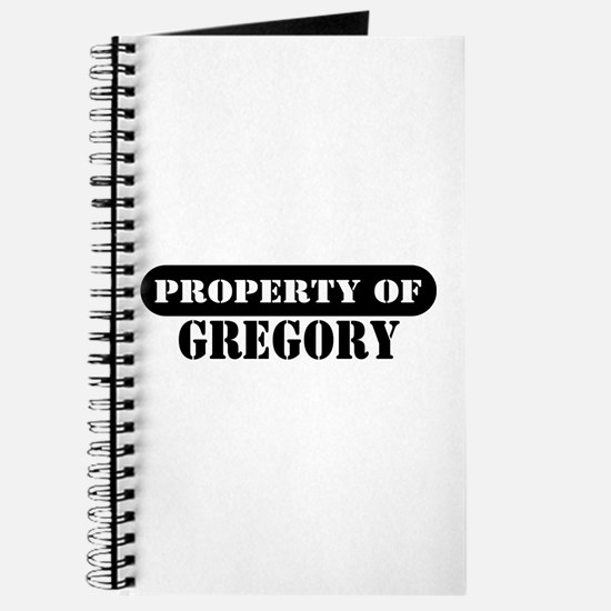 Property of Gregory Journal