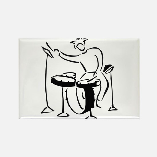 Abstract simple drummer bw. Magnets