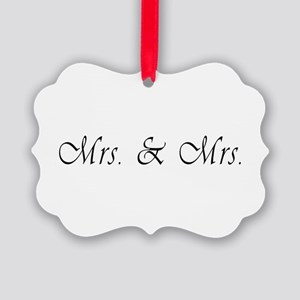 Mrs. & Mrs. - Lesbian Marriage Picture Ornament