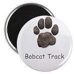 Real Bobcat Track Magnet