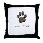 Real Bobcat Track Throw Pillow