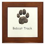 Real Bobcat Track Framed Tile