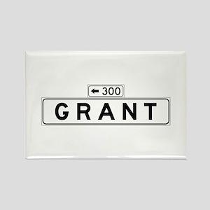 Grant Ave., San Francisco - USA Rectangle Magnet