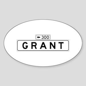Grant Ave., San Francisco - USA Oval Sticker