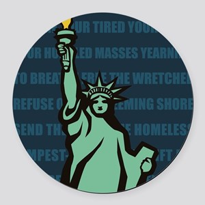 Words of Liberty Round Car Magnet