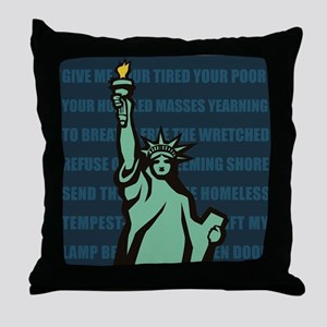Words of Liberty Throw Pillow
